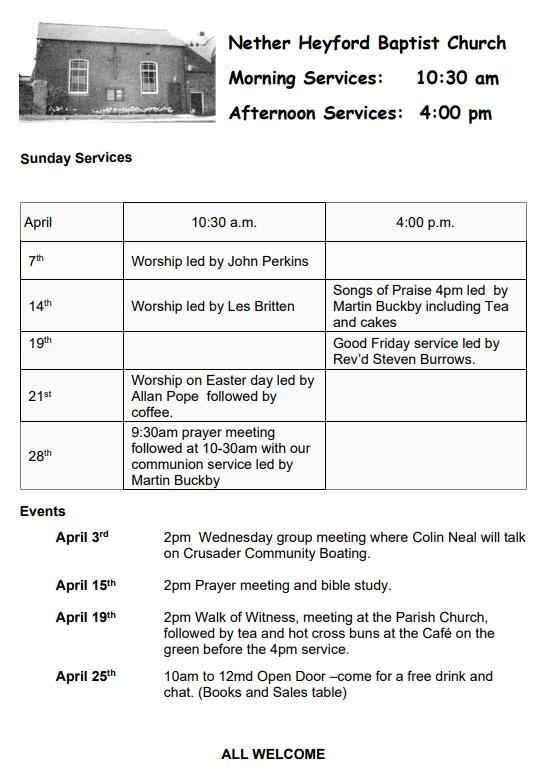Nether_Heyford_BaptistChapel_Services_April_2019