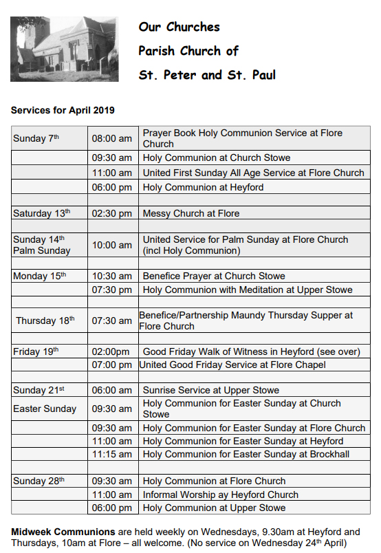 Nether_Heyford_Church_Services_April_2019