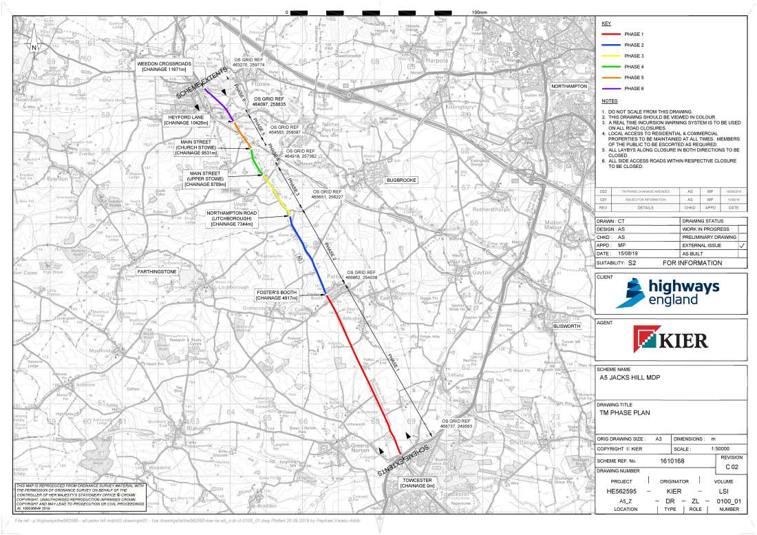 A5 Road Closures 2020- Phasing plan