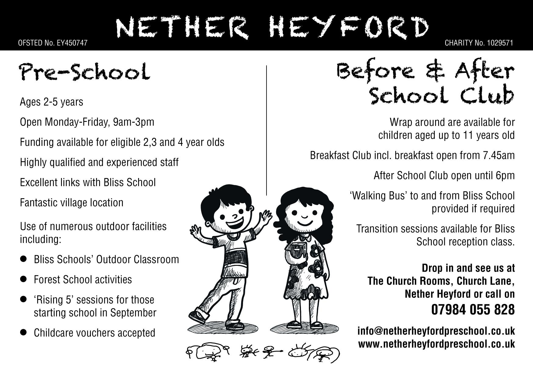 NetherHeyfordPreschoolAd2019